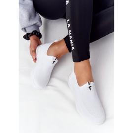 PS1 Damskie Sportowe Buty Slip-on Białe Be Stretchy 5