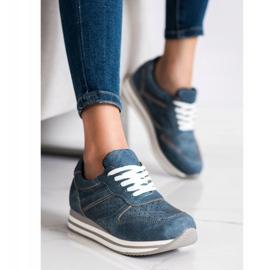Kylie Buty Sportowe Z Eko Skóry niebieskie 1