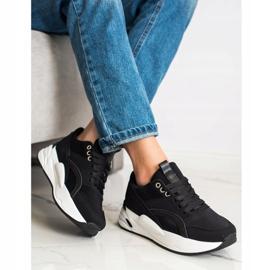 SHELOVET Klasyczne Sneakersy Na Platformie czarne 3