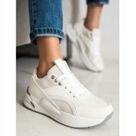 SHELOVET Klasyczne Sneakersy Na Platformie białe 2
