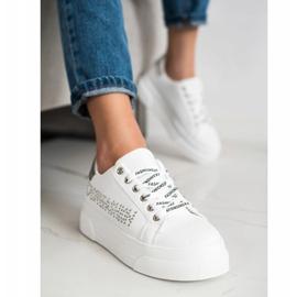SHELOVET Białe Trampki Na Platformie Fashion 2