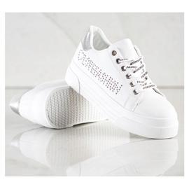 SHELOVET Białe Trampki Na Platformie Fashion 1