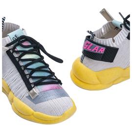 Sneakersy skarpetkowe beżowe Ava beżowy wielokolorowe 2