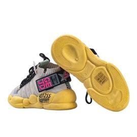 Sneakersy skarpetkowe beżowe Ava beżowy wielokolorowe 3