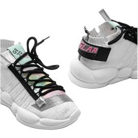 Sneakersy skarpetkowe białe Ava wielokolorowe 3