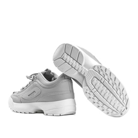 Szare sneakersy na grubej podeszwie Amya 4