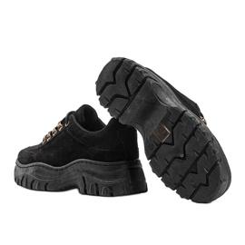 Czarne sneakersy na grubej podeszwie Cecilia 1