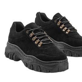 Czarne sneakersy na grubej podeszwie Cecilia 2