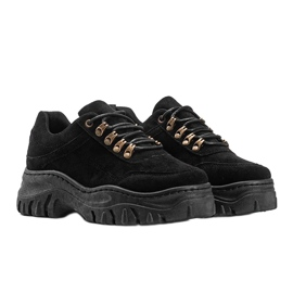 Czarne sneakersy na grubej podeszwie Cecilia 3