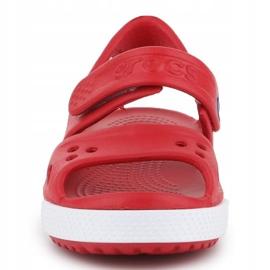 Sandały Crocs Crocband Ii Sandal Jr 14854-6OE czerwone 1