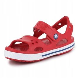 Sandały Crocs Crocband Ii Sandal Jr 14854-6OE czerwone 2