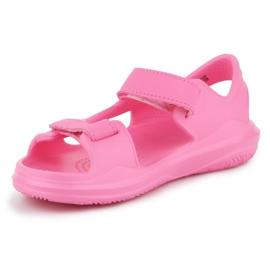 Sandały Crocs Swiftwater Jr 206267-6M3 różowe 2