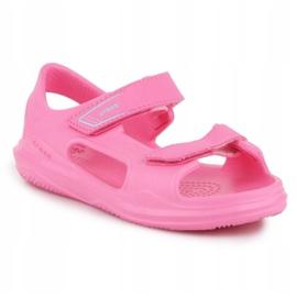 Sandały Crocs Swiftwater Jr 206267-6M3 różowe 3
