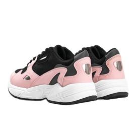 Czarno różowe sneakersy damskie Kendall czarne 2