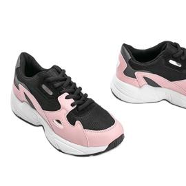 Czarno różowe sneakersy damskie Kendall czarne 3