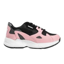 Czarno różowe sneakersy damskie Kendall czarne 4