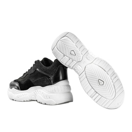 Czarne sneakersy damskie Alycia 2