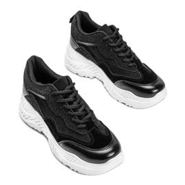Czarne sneakersy damskie Alycia 3