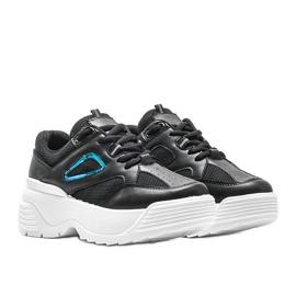 Czarne sneakersy na grubej podeszwie Jaida 1