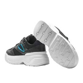 Czarne sneakersy na grubej podeszwie Jaida 2