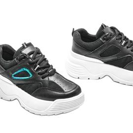 Czarne sneakersy na grubej podeszwie Jaida 3