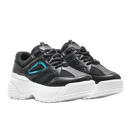 Czarne sneakersy na grubej podeszwie Jaida 4