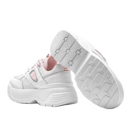 Białe sneakersy na grubej podeszwie Jaida 2