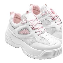 Białe sneakersy na grubej podeszwie Jaida 3