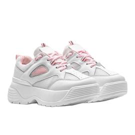 Białe sneakersy na grubej podeszwie Jaida 4