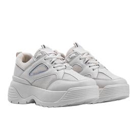 Beżowe sneakersy na grubej podeszwie Jaida beżowy 1
