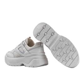 Beżowe sneakersy na grubej podeszwie Jaida beżowy 3