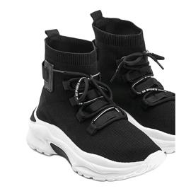 Sneakersy skarpetkowe za kostke czarne Ella 2