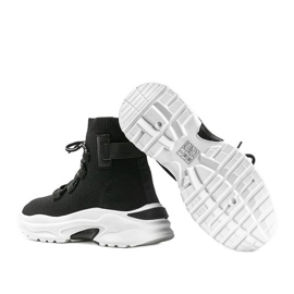 Sneakersy skarpetkowe za kostke czarne Ella 3