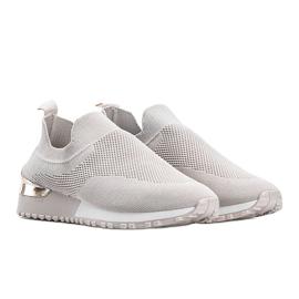 Beżowe sneakersy skarpetkowe Aja beżowy 1