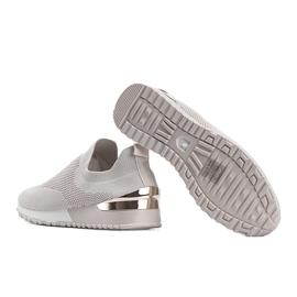 Beżowe sneakersy skarpetkowe Aja beżowy 2