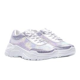 Srebrne obuwie sportowe damskie Carson srebrny 1