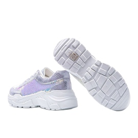 Srebrne obuwie sportowe damskie Carson srebrny 2