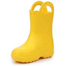 Buty Crocs Handle It Rain Boot Jr 12803-730 brązowe żółte 2