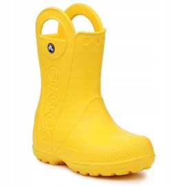 Buty Crocs Handle It Rain Boot Jr 12803-730 brązowe żółte 3