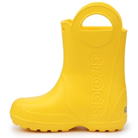 Buty Crocs Handle It Rain Boot Jr 12803-730 brązowe żółte 4