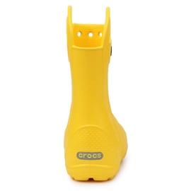 Buty Crocs Handle It Rain Boot Jr 12803-730 brązowe żółte 5
