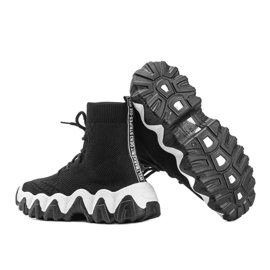 Czarne sneakersy skarpetkowe Gisselle 2