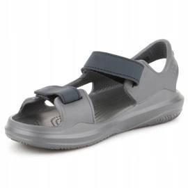 Sandały Crocs Swiftwater Jr 206267-0GR szare 2