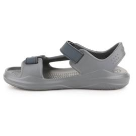 Sandały Crocs Swiftwater Jr 206267-0GR szare 4