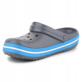 Klapki Crocs Crocband W 11016-07W niebieskie szare 2