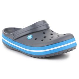 Klapki Crocs Crocband W 11016-07W niebieskie szare 3