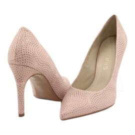 Czółenka buty damskie skórzane Anis 4716 różowe 2