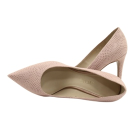 Czółenka buty damskie skórzane Anis 4716 różowe 4