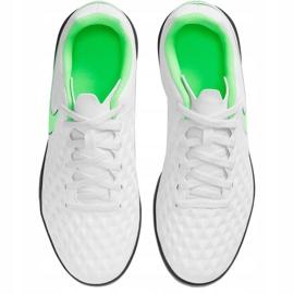 Buty piłkarskie Nike Tiempo Legend 8 Club Tf Junior AT5883 030 białe białe 1