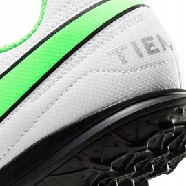Buty piłkarskie Nike Tiempo Legend 8 Club Tf Junior AT5883 030 białe białe 5